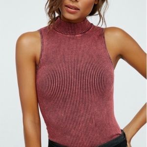 Free People Intimately No looking Back Tank wine